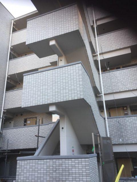 吹田市 マンション外壁吹付け工事