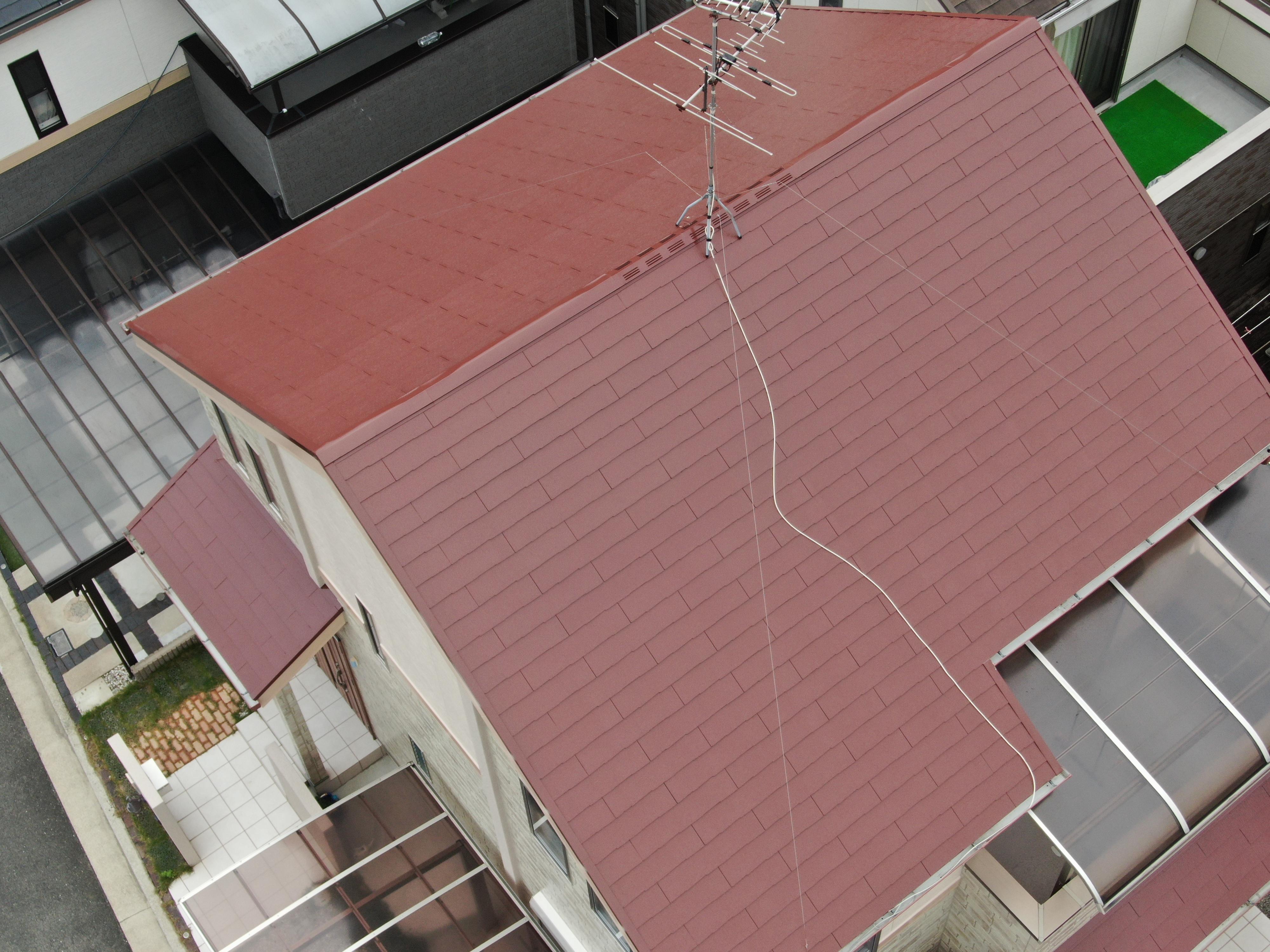 堺市中区 RSプラチナ無機屋根塗装