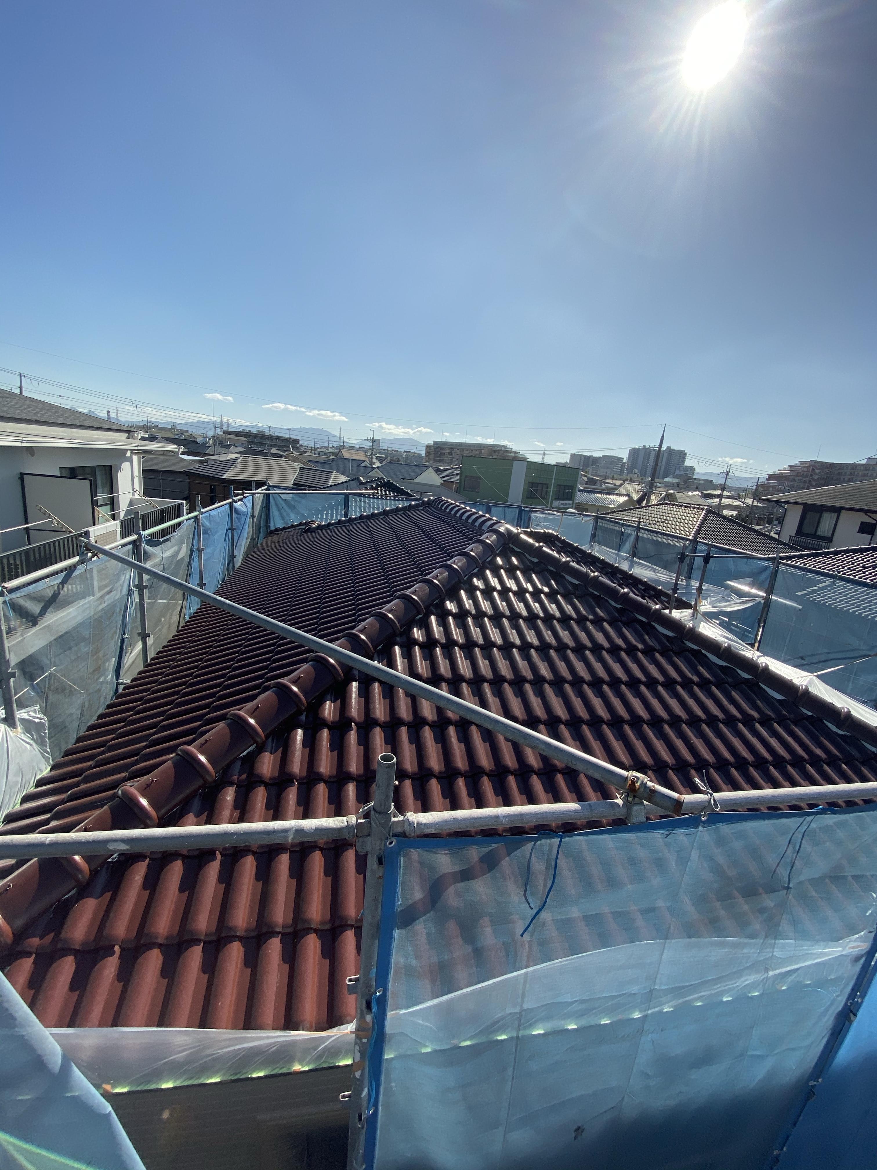 堺市北区 屋根塗装