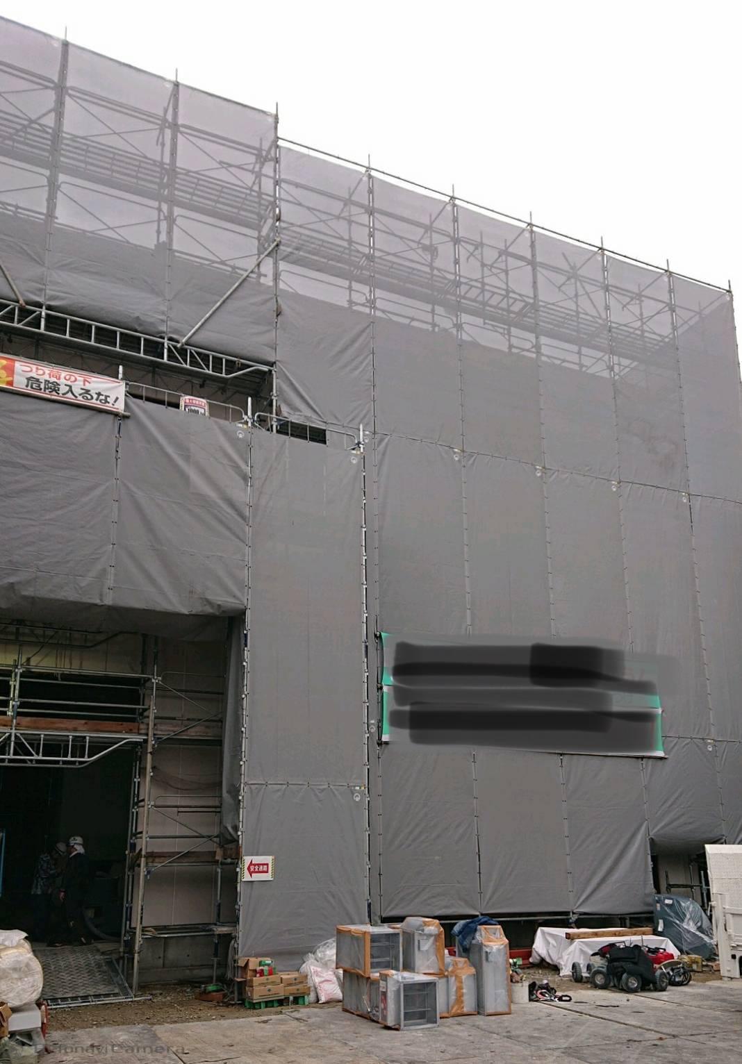 堺市北区 外壁塗装 吹き付け