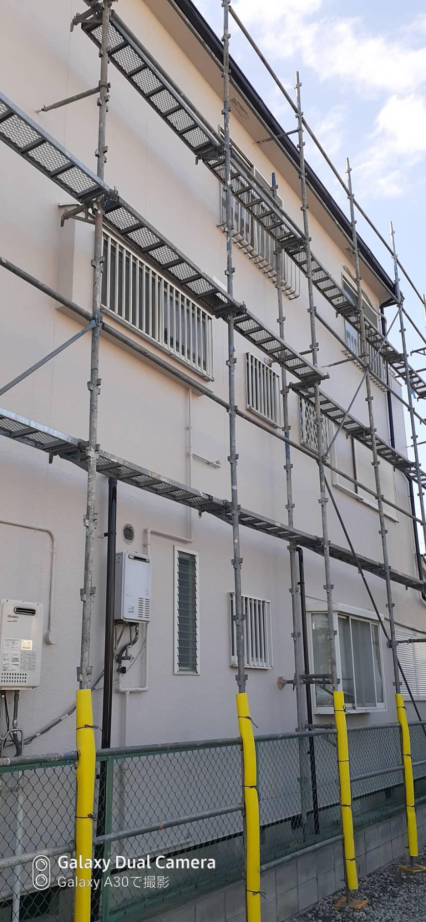 堺市西区 外壁塗装検査