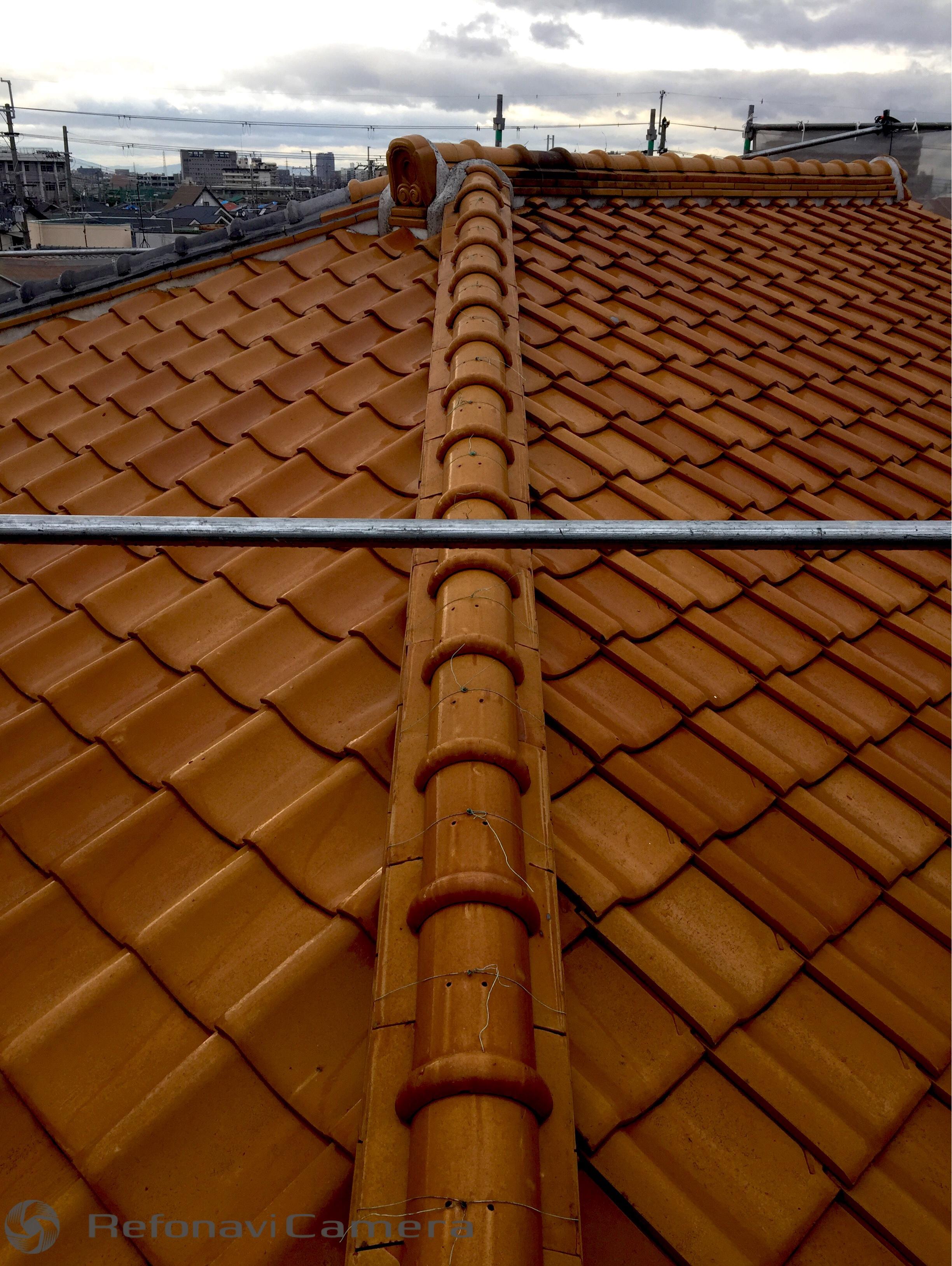 堺市中区 屋根葺き替え工事