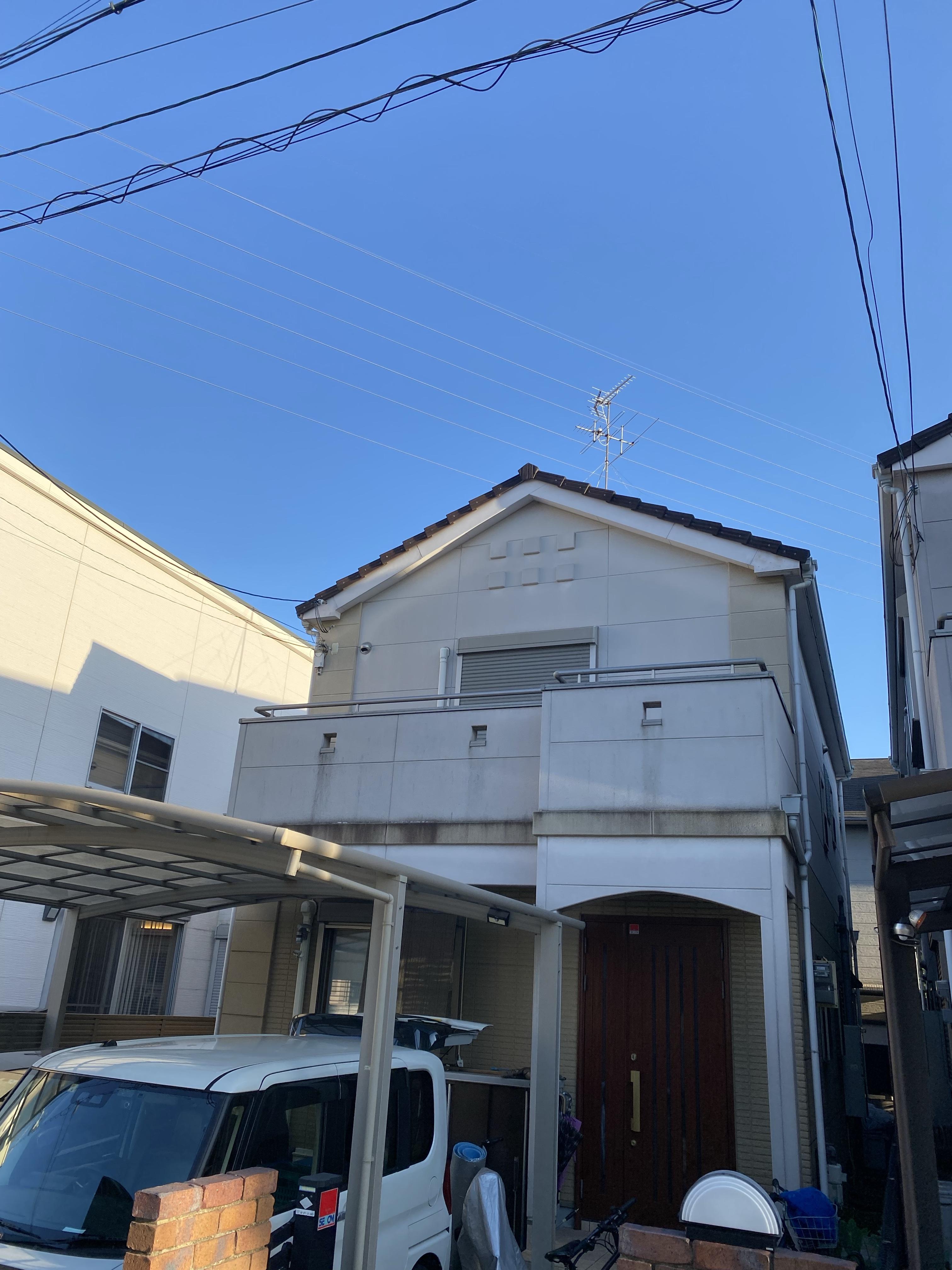 堺市北区 外壁塗装着工